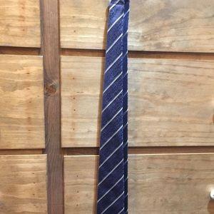 Ermenegildo Zegna Silk Tie Blue Print